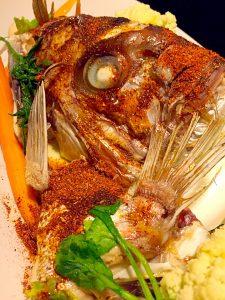 真鯛カブトスパイス焼き